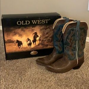 Old west narrow toe western boots